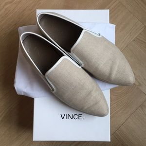 "Vince linen ""phalen"" slip on sneakers"